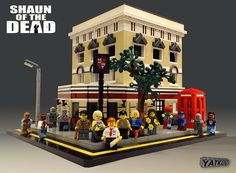 The Shaun of the Dead crew outside the Winchester in #Lego :)