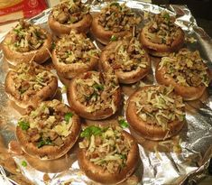 Stuffed Mushrooms Recipe - no bread at all! Low carb and delicious.