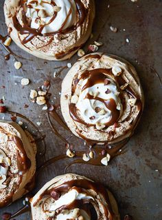 John Whaite uses brown sugar to give his meringues a delicious caramel taste. Making your own meringues is far more impressive than buying shop-bought. Make Ahead Desserts, Just Desserts, Dessert Recipes, Butterscotch Sauce Recipes, Meringue Pavlova, Meringue Desserts, Custard Desserts, Chocolate Belga, Cupcakes