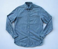 J.CREW MENS M LUDLOW SHIRT in Japanese Chambray Blue Indigo #jcrew #ButtonFront