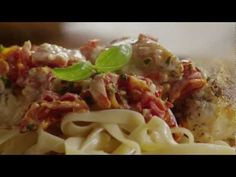 Watch how to make an Italian-influenced chicken dish, starring a rich cream sauce with sun-dried tomatoes, fresh basil, and garlic. A quick-and-easy recipe, it's terrific served over pasta with plenty of crusty bread on hand to scoop up extra sauce.