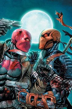 Deathstroke Vs Red Hood. Deathstroke #50 Cover Art.