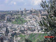 No alto está o Monte Sião - Jerusalém - Israel