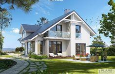 Z charakterem 3 Modern Bungalow Exterior, Modern Bungalow House, Dream House Exterior, Home Building Design, Building A House, Modern Mediterranean Homes, Crazy Houses, Modern Villa Design, Model House Plan