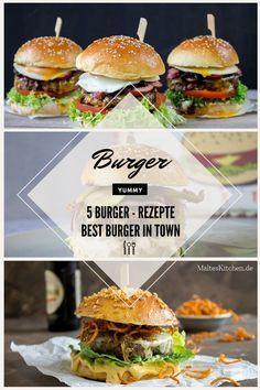 5 ultimative Burger Rezepte für Burger zum Niederknien. | http://malteskitchen.de