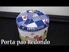 PORTA-PÃO REDONDO - PASSO A PASSO - YouTube