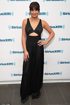Jump(suit) for joy: The singer and actress did not appear to lose any sleep over the Scherzinger casting rumor, looking sensational on Wednesday at Sirius XM in New York