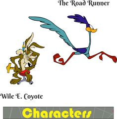 Wile E. Coyote and The Road Runner - Vectors Like Vector Characters, Road Runner, Classroom Decor, Vectors, Vector Free, Cartoon, Decoration, Movie Posters, Decor