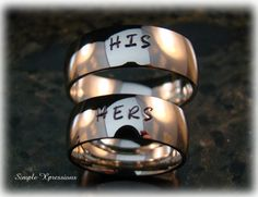 Personalized Matching Rings  8mm High Polished by SXpressions, $50.00