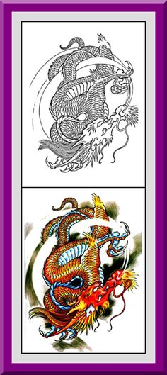 Coloring Pages With Examples. Printable Dragons Coloring Pages 30 High definition coloring pages  black outlines with colored examples