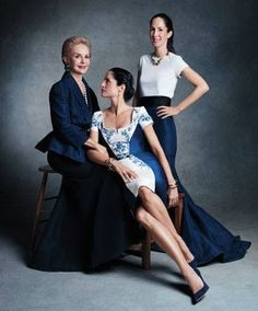 Carolina Herrera and her daughters