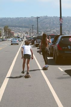 """Where are we going?"" she asks ""Don't worry about it."" her friend replied. She groaned but pushed her skateboard to catch up with her friend"