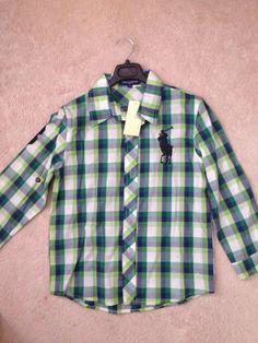 boys, green, plaid shirt Green Plaid Shirt, Polo Logo, Picture Day, Big Boys, Family Photos, Fall, Clothing, Cotton, Fashion