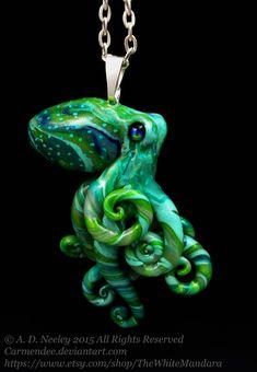 Green octopus by carmendee.deviantart.com on @DeviantArt