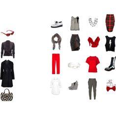 """Mini Capsule Wardrobe- Monochrome Splash"" by misshoneybare on Polyvore Three Color Combinations, Simple Wardrobe, Lulu Guinness, Derek Lam, Barneys New York, Vivienne Westwood, Wildfox, Capsule Wardrobe, Monochrome"