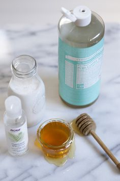 Milk and Honey Body Wash: * ½ cup coconut milk * ½ cup Castile soap, I used Baby Mild * ⅓ cup raw honey * 7 drops of essential oil, I use orange in this recipe  * 2 tsp vegetable glycerin, (optional) this is the secret to extra suds * 1 liquid soap dispenser or bottle