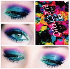 Urban decay electric palette. Using freak, fringe, jilted, and urban. Love this combination!