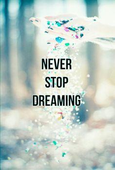 Nunca abandones tus sueños C=