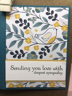 With Sympathy – Endless Creations Rubber Stamps Sympathy Cards, Greeting Cards, My Favorite Color, My Favorite Things, Deepest Sympathy, April 25, The Way Home, Penny Black, Lily Of The Valley