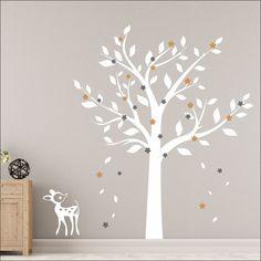 Αυτοκόλλητο τοίχου Μαγικό δέντρο Wall Stickers, Decals, Baby Room Decor, Bedroom, Furniture, Decoration, Home Decor, Houses, Wall Clings
