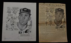 1954 Tom Umphlett Trades Teams Sporting News Original Cartoon Art by Lou Darvas   eBay