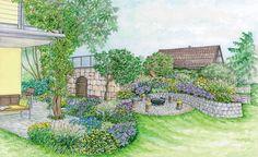 Die 25 besten bilder von hanggarten home garden for Gartenidee hanglage