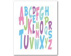 A personal favorite from my Etsy shop https://www.etsy.com/listing/230572606/nursery-wall-art-alphabet-abc-children