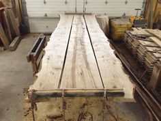 WOOD ANCHOR | Salvaged Manitoba live edge Oak custom boardroom table