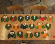 Játékos tanulás és kreativitás: Bagoly és levélmanó készítése igazi levelekből