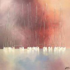 "Saatchi Art Artist Olivier Messas; Painting, ""Sérénité...   SERENITY..."" #art Oil On Canvas, Saatchi Art, Sailing, Original Paintings, Clouds, Sky, Artist, Outdoor, Inspiration"
