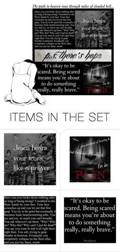"""""""P.S. there's hope (READ D)"""" by irresistible-livingdeadgirl ❤ liked on Polyvore featuring art, emo, gothic, polyvoreeditorial, goth, depression, pain, God and Strength"""