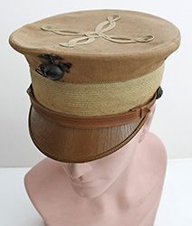 WW I Marine Officers summer service hat.