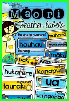 Add some colour to your wall display with these interchangeable Māori weather labels - simply cut out and laminate before letting your students change the word cards for you! Christmas Collage, 3d Christmas, Waitangi Day, Memory Strategies, Learn A New Language, Foreign Language, Teaching Resources, Classroom Resources, Classroom Ideas