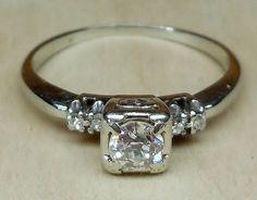 Vintage Antique .40ct Old European Cut Diamond by DiamondAddiction