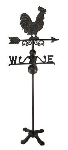 Cast Iron Rooster Weathervane 40 Inches Tall Garden Decor by Things2Die4, http://www.amazon.com/dp/B00A81LUC8/ref=cm_sw_r_pi_dp_tYJMrb110HK9B