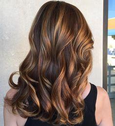 Znalezione obrazy dla zapytania brown hair with highlights