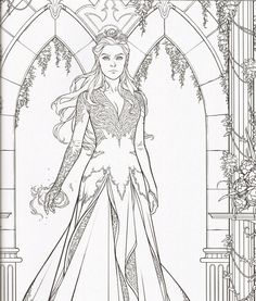 Mythical Mermaids - Fantasy Adult Coloring Book (Fantasy Co Fairy Coloring Pages, Free Adult Coloring Pages, Animal Coloring Pages, Coloring Sheets, Coloring Books, Colorful Drawings, Colorful Pictures, A Court Of Mist And Fury, Art Plastique