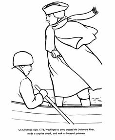 Revoltionary War Washington Crossing The Delaware Coloring Page