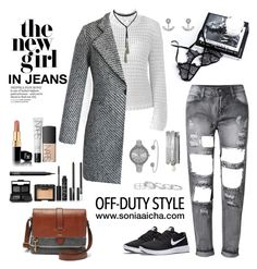"""""""Off-Duty Style"""" by soniaaicha ❤ liked on Polyvore featuring YM by Yakshi Malhotra, Chicwish, NIKE, SO & CO, Kendra Scott, Ted Baker, FOSSIL and NARS Cosmetics"""