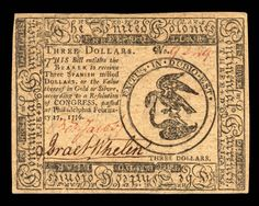 Continental Currency | The American Revolution Center