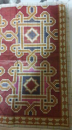 Chart Design, Tapestry Crochet, Rug Making, Cross Stitching, Cross Stitch Patterns, Bohemian Rug, Fabrics, Embroidery, Rugs