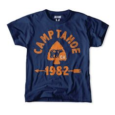 Camp Tahoe 1982 Kids T-Shirt | Frank Ozmun Graphic Design