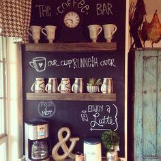 Floating Shelf Coffee Bar