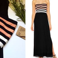 Strapless Sweetheart Maxi by Rachel Roy S Stunning summer sweetheart bodice, strapless Maxi by Rachel Rachel Roy. Fully lined skirt. Side slit. Perfect for summer days and sunset nights. NWT. Modeled pics from Rachel Rachel Roy. New in stores. RACHEL Rachel Roy Dresses
