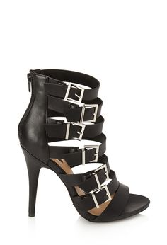 Buckled Faux Leather Sandals   FOREVER21 - 2000087568