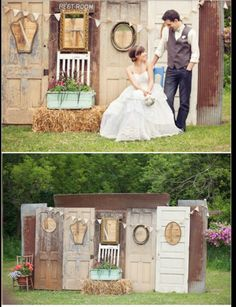New vintage wedding backdrop reception the doors ideas Chic Wedding, Rustic Wedding, Wedding Ceremony, Our Wedding, Dream Wedding, Wedding Vintage, Wedding Pins, Photo Booth Backdrop, Backdrop Ideas