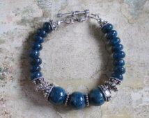 St Tropez Bracelet -- AA Apatite gemstones Sterling Bracelet
