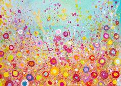 Flowers Flowerscape glitter  by PatriciaOFineArt on Etsy https://www.etsy.com/listing/523842899/flowers  Flowerscape glitter art