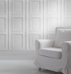 White Panelling Wallpaper from Studiomold | Made By Mineheart | £70.00 | Bouf