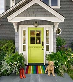 For a distinctive front entrance, here's how to opt for a playful hue with cues from an architectural color consultant.